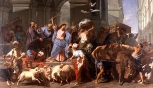 Jean-Baptiste Jouvenet (1644 - 1717), Jésus chasse les marchands du Temple, musée des Beaux-Arts de Lyon