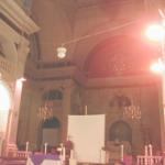 vue du fond de l'église Saint Polycarpe