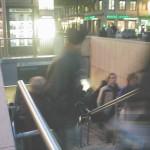 vue de la rampe d'accès au métro de la Croix Rousse