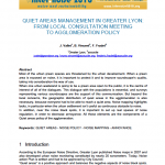 QUIET AREAS MANAGEMENT IN GREATER LYON: FROM LOCAL CONSULTATION MEETING TO AGGLOMERATION POLICY